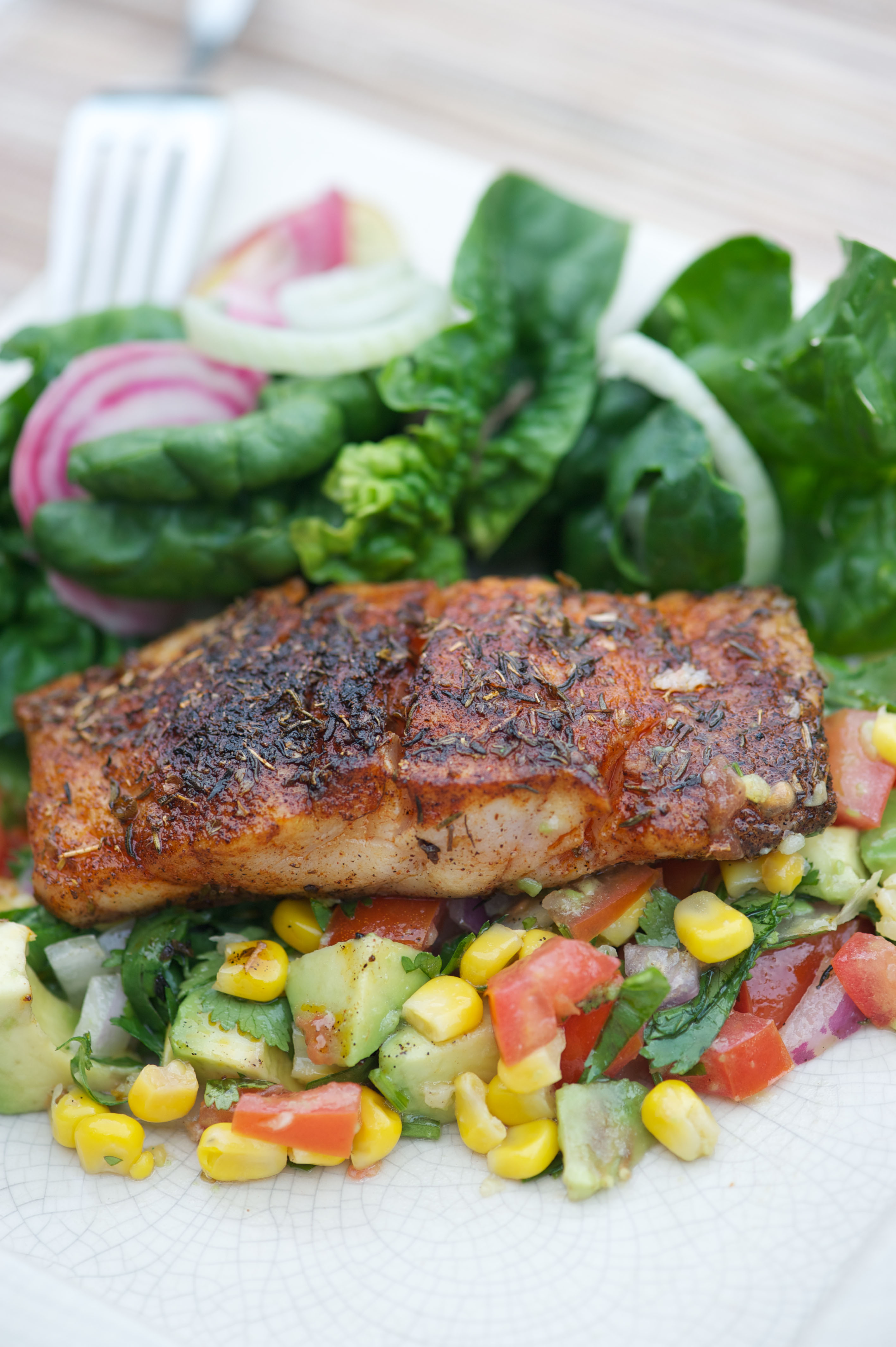 red cajun snapper with red beans blackened red snapper blackened red ...