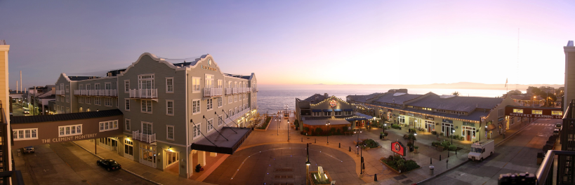 Panoramic view of Cannery Row in Monterey California.
