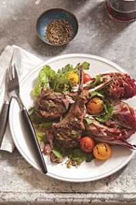 Warm Salad with Lamb Chops
