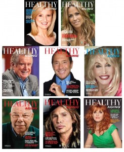 Healthy Aging Magazine covers montage