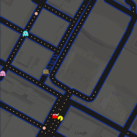 google map pac man
