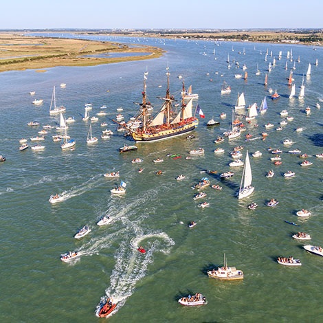 Hermione leaving Rochefort to sail to U.S.
