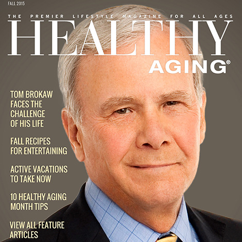 Fall 2015 Tom Brokaw cover for healthyaging.net home page