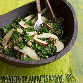 Kale-Pear-and-Bulgur-Salad_credit-Sheri-Giblin.Dash Diet