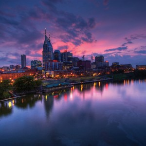 nashville.skylineDark.courtesy of Nashville Convention and Visitors Corporation.282