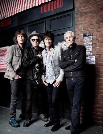 The Rolling Stones today (L to R): Mick Jagger, Keith Richards, Ron Wood, Charlie Watts. Photo: Rnakin. Used with permission, Harper Collins.