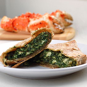 Crab Spinach Calzones