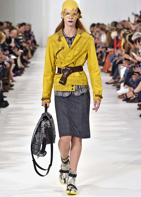 Maison Margiela shows yellows and gray combination accented with short boots