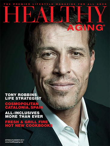 Healthy Aging Magazine Tony Robbins cover