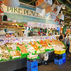 Pike Place Market Seattle. Farmers Markets. Healthy Aging.net
