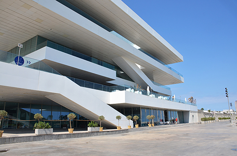 AMERICA'S CUP BUILDING, KNOWN AS VELES I VENTS