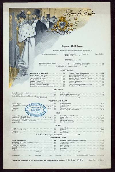 Knickerbocker Hotel Menu