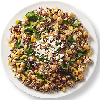 Lemon Chickpea Quinoa. healthyaging.net