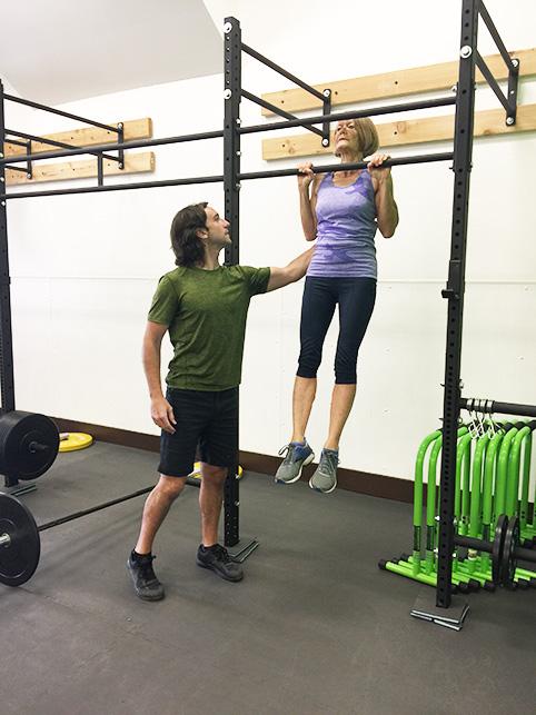 Ellen Kahan mastering pull-ups