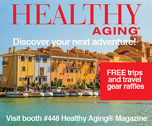 healthy aging magazine booth ad