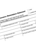 Health insurance marketplace statement form 1095-A