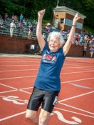 "103-Year-Old Julia ""Hurricane"" Hawkins Storms National Senior Games"