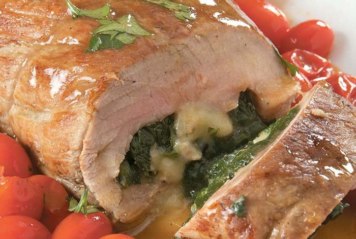 Jacques Pepin Stuffed Pork Tenderloin
