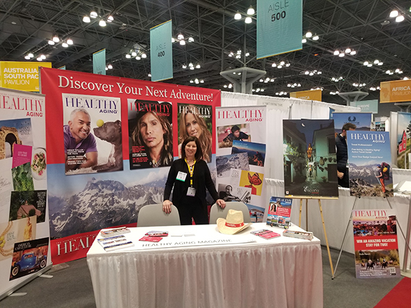 active travel healthy aging magazine ny times travel show