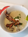 Mushrooms. Maitake and Roasted Corn Soup with Poblanos and Crispy Maitake
